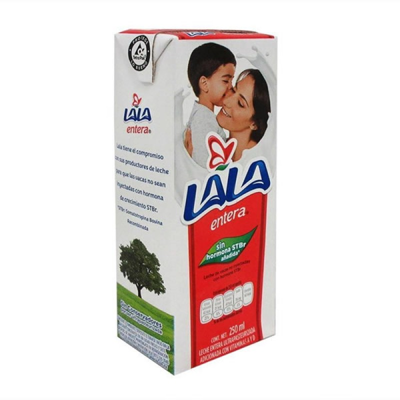 "Leche entera ""Lala"" de 1 Lt."